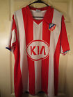 AZERBAIJAN Red/ White Striped #6 KYOCERA Soccer Jersey Size Medium