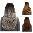 Ombre wavy middle parting full head wig