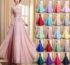New Chiffon Lace Evening Formal Party Ball Gown Prom Bridesmaid Dress Size 6~20