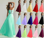 2017 Chiffon Wedding Ball Gown Evening Formal Party Prom Bridesmaid Dresses 6-20