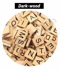 Купить 100 Wooden Scrabble Tiles Black Letters Tiles For Crafts Wood Alphabets Toy UK