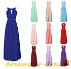Long Halter Neck Formal Party Ball Gowns Prom Dresses Bridesmaid Stock Cocktail