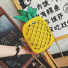 Women Cute Fruit Pineapple Handbag Leather Shoulder Chain Purse Satchel Tote Bag