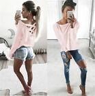UK New Fashion Womens Ladies Casual T Shirt Long Sleeve Shirt Loose Blouse Tops New with tags
