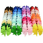 3'' Wedding Gift Girls Bow Hair Bow Clip Hairpins Grosgrain Ribbon Headwear