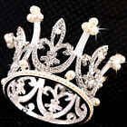 Austrian Princess Bridal Rhinestone Crystal Wedding Crown Tiara Veil  Accessory