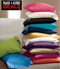 CYBER MONDAY DEAL!!! 2PC BED PILLOWCASES 100% COTTON SOLID ALL SIZES- FAST SHIP image