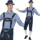 Traditional Mens Oktoberfest Costume Blue Fancy Dress Lederhosen Smiffys 45265