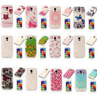 For Samsung Galaxy S5 Soft Shockproof Rubber Glossy Light Practical Cases Covers