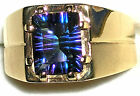 Men's Brazilian Multi Color Mystic Blue Topaz Ring  **R5