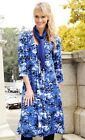 WOMEN SUMMER DRESS MIDI LONG 3/4 SLEEVE PLUS SIZE EVENING CASUAL PARTY WRAP V