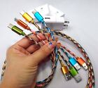 Fast Wall Charger & USB Type C Data Colorful Cable For Samsung S8 Plus Google