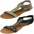 LADIES SPOT ON F10589 SANDALS BLACK AND PEWTER