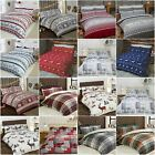 100% Brushed Cotton Flannelette Bedding Quilt Duvet Cover Cosy Hygge Style