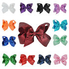 6 inch Girls Hair Bow Bowknot Sequin Alligator Clips  Hair Accessories
