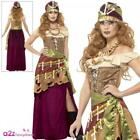WOMENS DELUXE VOODOO PRIESTESS GYPSY MAGIC HALLOWEEN ADULT FANCY DRESS COSTUME