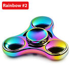 Colorful Rainbow Aluminum Metal Tri Hand Finger Spinner Fidget EDC Desk Toy Gyro