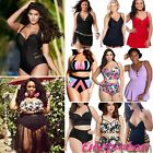 Plus Big Size Women Swimwear Bikini Set High Waist Padded Swimsuit Bathing Suits
