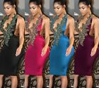 Sexy Women's Sleeveless Floaral Lace Clubwear Party Cocktail Bodycon Dress