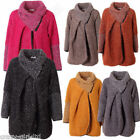 Womens Italian Lagenlook Cape Winter Knitted Jacket Ladies Cocoon Coat Plus Size