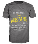 T-SHIRT GRAU FORD MUSTANG 1/4 MILE CLOTHING S-3XL HOT ROD V8 MUSCLE AUTO