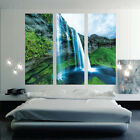 Waterfall Mural Wallpaper Window View Wall Decal Beautiful L