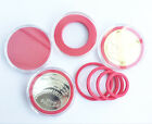 20X Badge Commemorate Coin Case Capsules Holder Storage Display for 20-41mm Red
