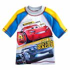 Внешний вид - Disney Pixar Cars Lightning McQueen Rash Guard Boys 50+ UV Toddler Size 3 4