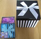 STRIPED FOLDED GIFT BOXES SMALL  3 COLOURS TO CHOOSE FROM BIRTHDAYS