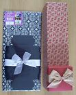 FOLDED WINE GIFT BOXES 2 DESIGNS TO CHOOSE FROM BIRTHDAYS ANNIVERSARIES