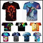 Galaxy Space 3D T-Shirt Cool Universe Stars Mens Unisex Top Tee Sweat Tshirt