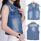 2017 STYLISH Salt Tree Women's Distressed Washed Out Denim Vest