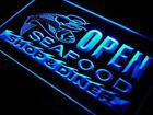 OPEN Seafood Restaurant Diner LED Neon Light Sign 2 sizes 5 colors On/Off Switch