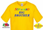 "Fruit of the Loom ""Superhero Big Brother"" Funny Slogan/ Kids,Boys T shirts"