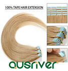 PU Tape-in 100% Real Remy Human Hair Extension Smooth Brown Colour Choices