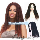 Chic Kinky Twists Hair Braided Long Dark Brown Ombre wig Single Rod Twist Out