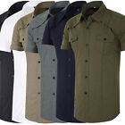 NEWSUMMER New Mens Short sleeve Button-Down Shirts Tops Casual Slim Dress Shirt