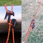 1x/4x Aluminum Tent Rope Stopper Adjust Secure Rope Buckle EDC Outdoor Camping