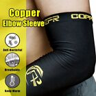 Breathable Compression ARM Sleeve Copper Infused Elbow Support Recovery Brace UD