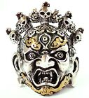 YAMA TIBETAN LORD OF DEATH STERLING 925 SILVER RING