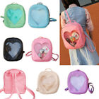 NEWEST Transparent Heart Shaped Backpack Girls Backpack Peach Heart Travel Bags