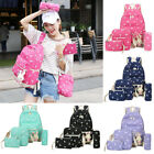 5Pcs Women Canvas Backpack Lovely Rabbit School Travel Teenage Shoulder Bag 2017