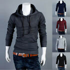 Latest Men's Plain Sweatshirts Hoodie Casual Jumper Pullover Tops Slim Fit Coat