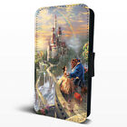 Beauty And The Beast Castle Movie Leather Flip Phone Case Cover iPhone Samsung