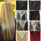 Real Thick Clip in on Full Head Hair Extensions Extension 8Piece Human made HG20