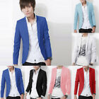 Popular Mens Slim Fit Casual Formal One Button Blazer Coat Jackets Suit Outwear