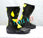 CHEAP MENS MOTORBIKE MOTORCYCLE RACING LEATHER BOOTS