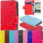 Leather Diamond Wallet Book Flip Side Open Case Cover For Samsung Galaxy S3 S4