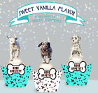 Dalmatian Liver Spotted Puppy Dog Party wafer Cupcake Toppers PRECUT cup cake