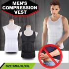 BLACK Mens Slimming Body Shaper Tank Top Undershirt Belly Control Lose Weight